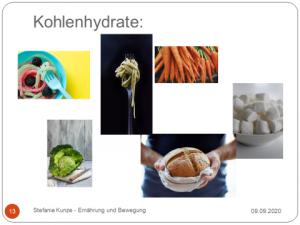 Ernährungsberatung, Stefanie Kunze. Wir reden über Kohlehydraten Artikel